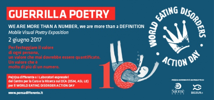 GUERRILLA POETRY // World Eating Disorders Action Day // June 2, 2017